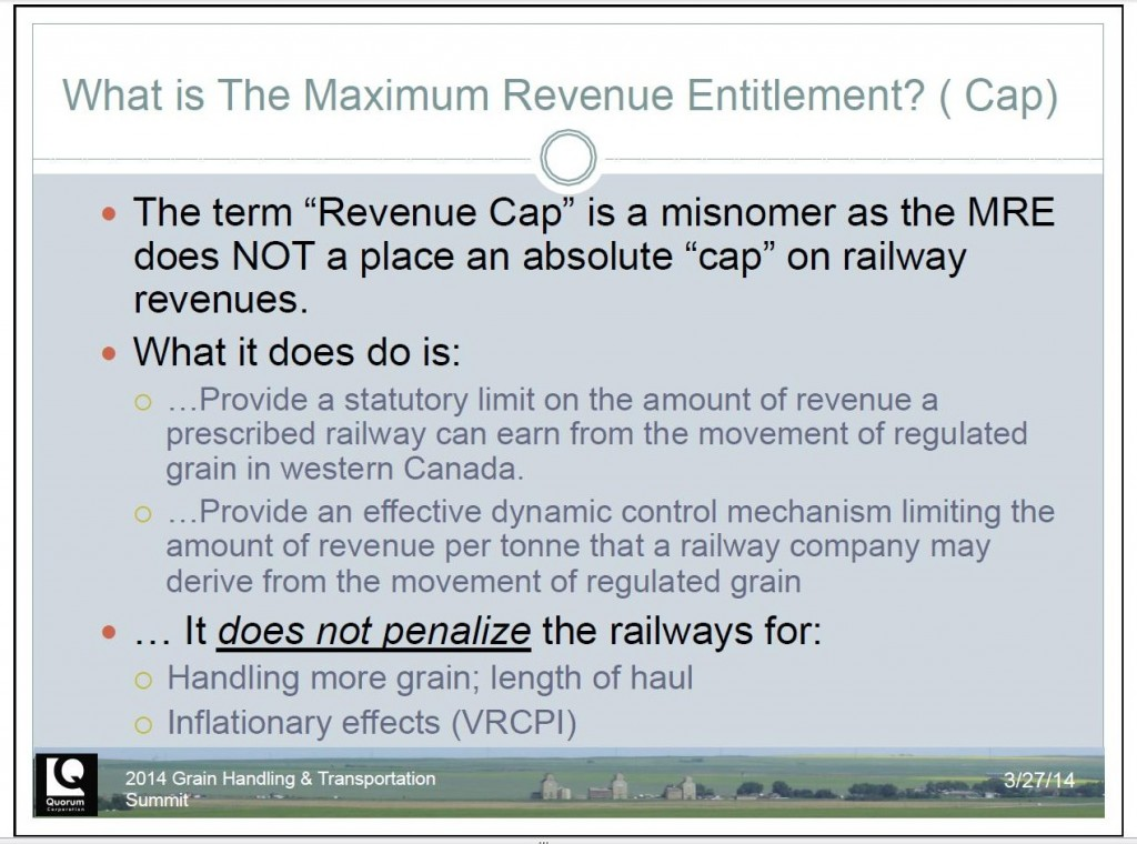 Quorum on Rail Revenue Cap