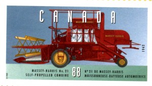 Massey 21 Combine Stamp